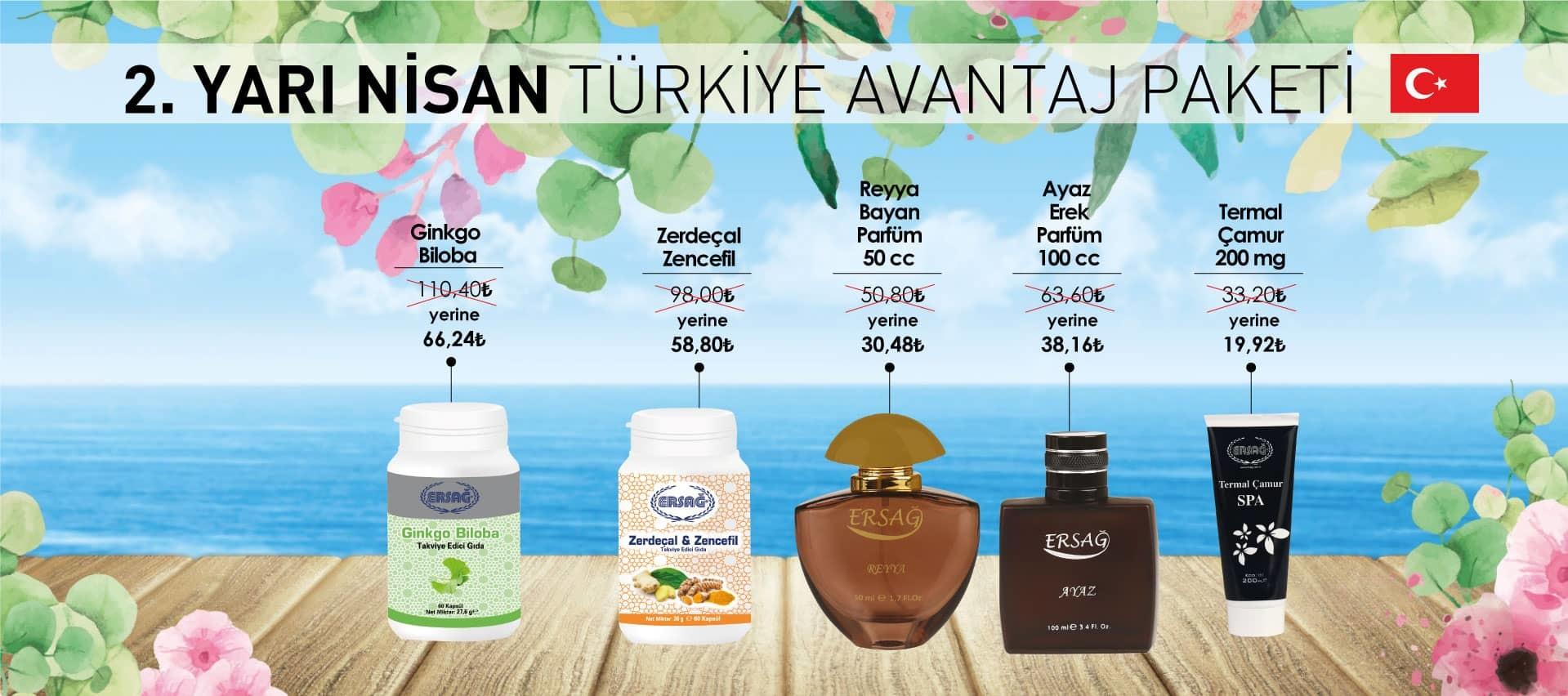 Ersağ Türkiye Nisan 2. Yarı Avantaj Paketi