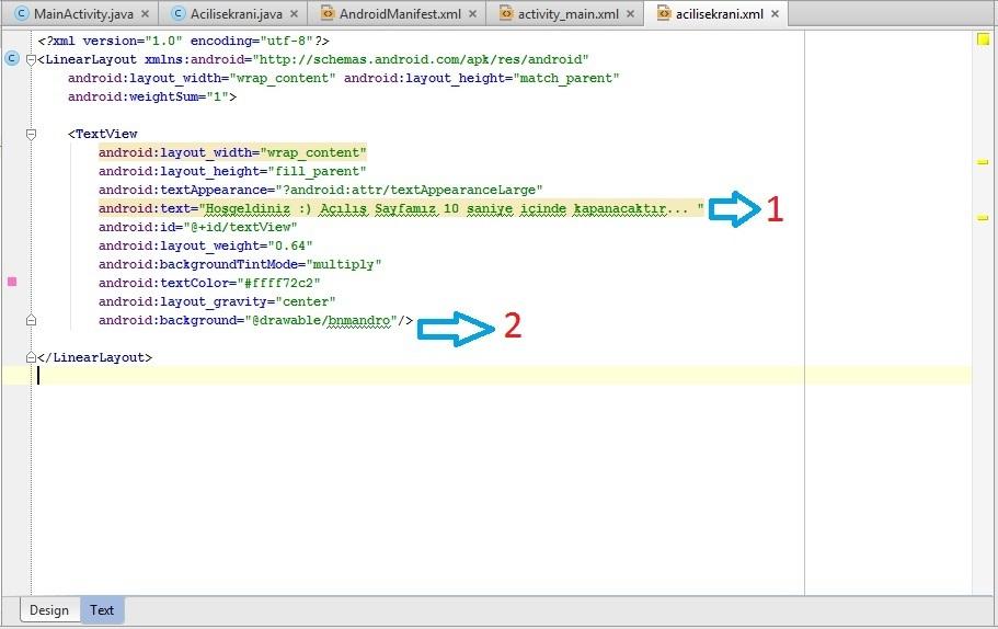 Android Açılış Sayfası (Splash Screen) Oluşturma