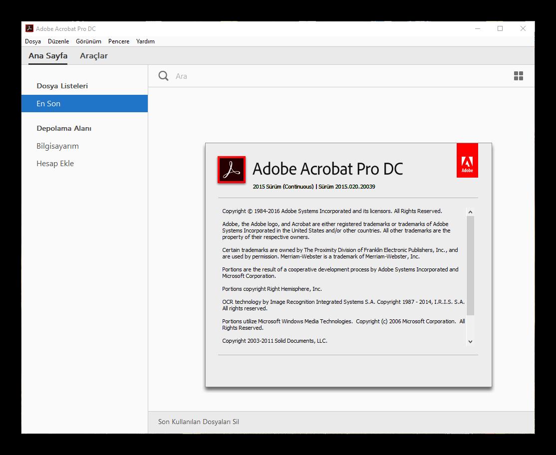 Adobe Acrobat Pro DC 2015.020.20039 Final | Katılımsız